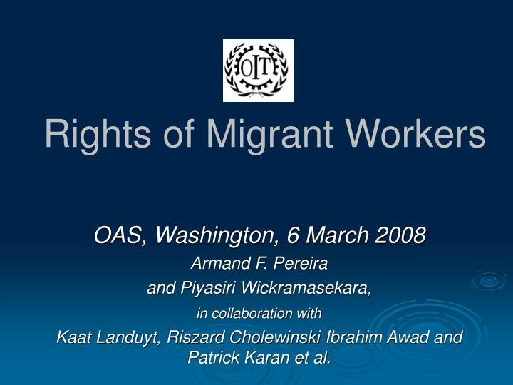 rights of migrant workers n.