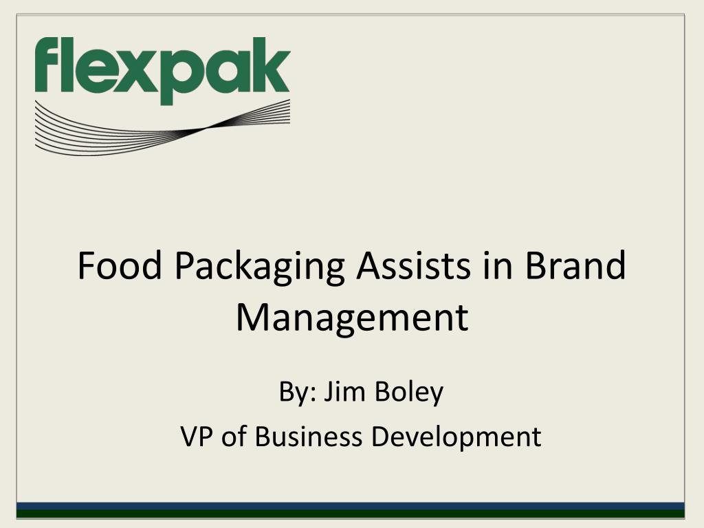 food packaging assists in brand management l.