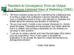 transition convergence from an output to a process centered view of marketing 2002