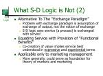what s d logic is not 2