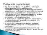 efektywno psychoterapii