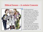 ethical issues a certain concern