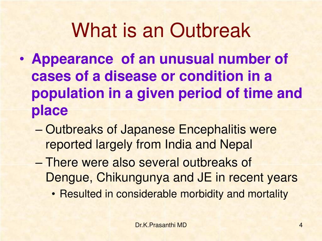 What is an Outbreak