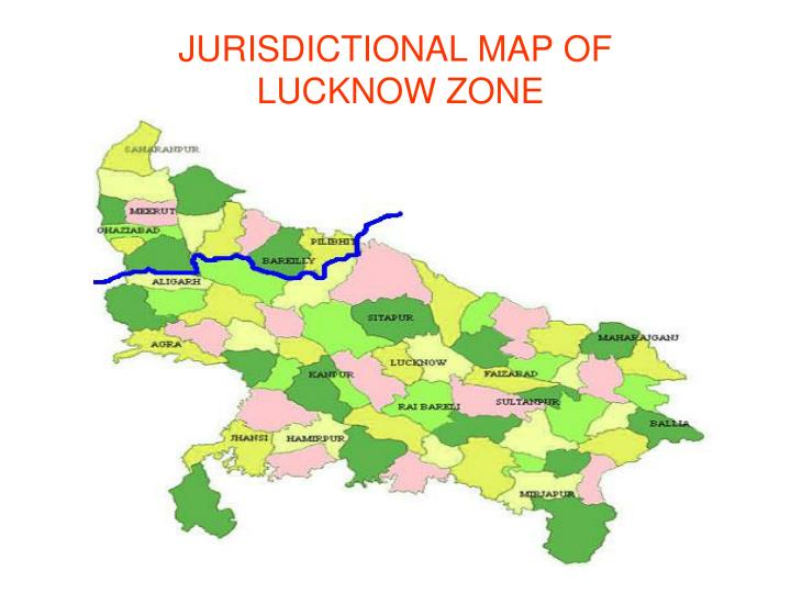 jurisdictional map of lucknow zone n.