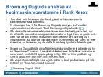 brown og duguids analyse av kopimaskinreperat rene i rank xerox