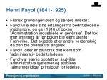 henri fayol 1841 1925