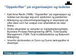 oppskrifter p organisasjon og ledelse