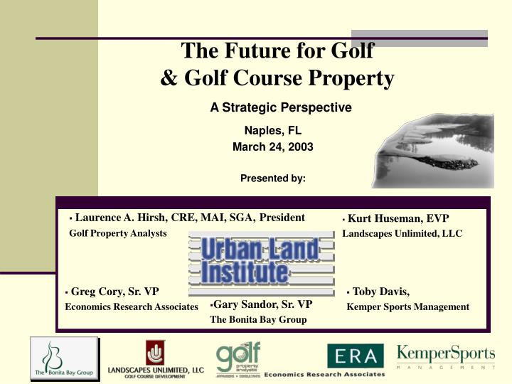 the future for golf golf course property n.