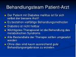 behandlungsteam patient arzt