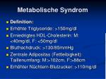 metabolische syndrom