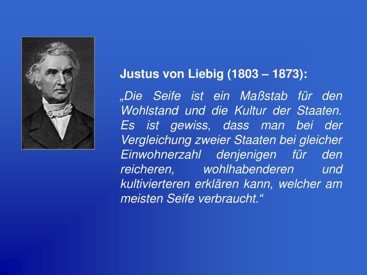 Justus von Liebig (1803 – 1873):