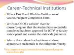 career technical institutions