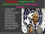 kofi annan speaking at the world summit on the information society