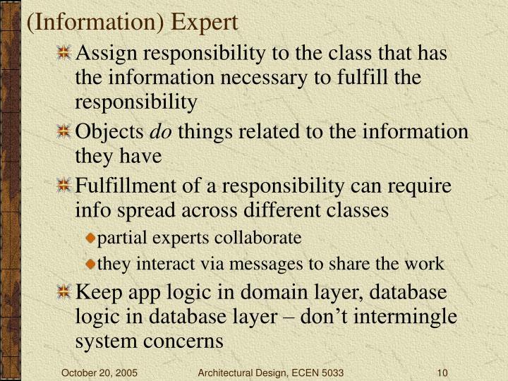 (Information) Expert