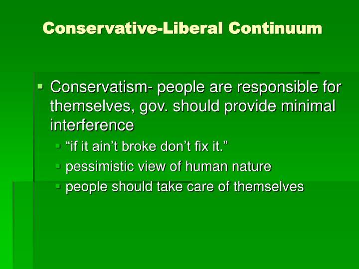 Conservative-Liberal Continuum