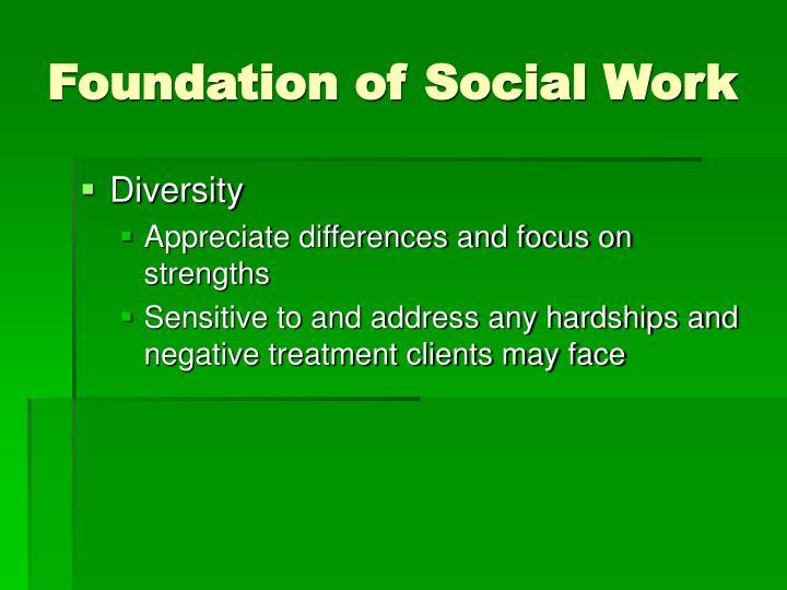 Foundation of Social Work