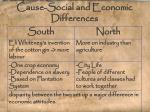 cause social and economic differences