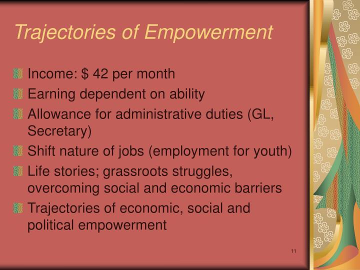 Trajectories of Empowerment