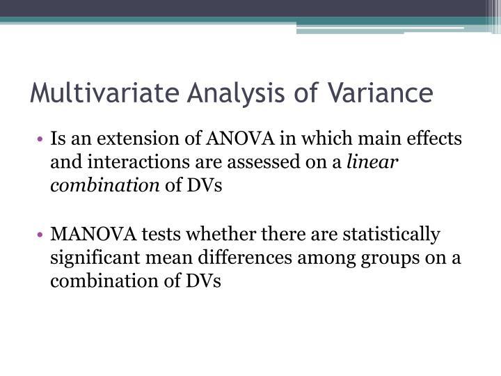 Multivariate analysis of variance