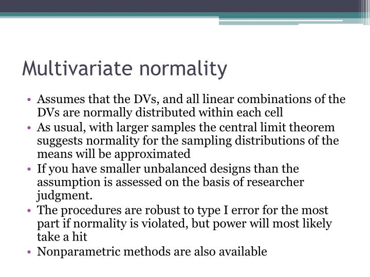 Multivariate normality