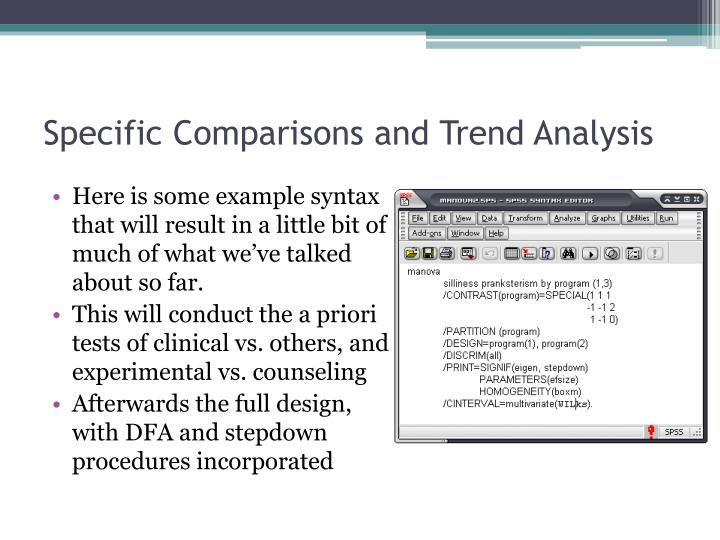 Specific Comparisons and Trend Analysis