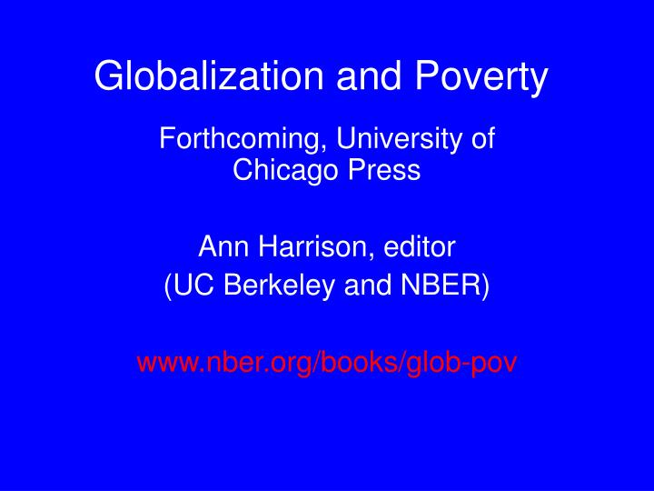 globalization and poverty n.