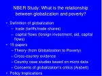 nber study what is the relationship between globalization and poverty