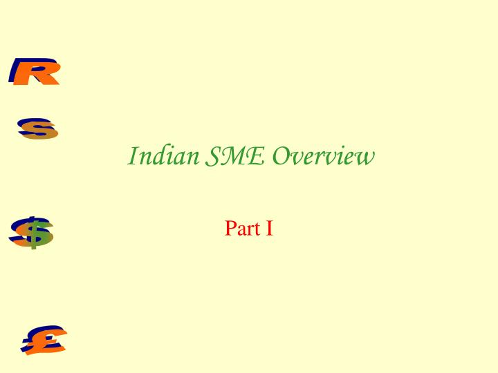 Indian SME Overview
