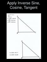 apply inverse sine cosine tangent