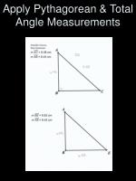 apply pythagorean total angle measurements