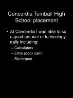 concordia tomball high school placement