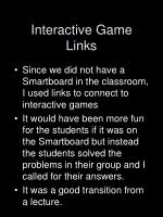 interactive game links