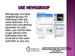 use newsgroup