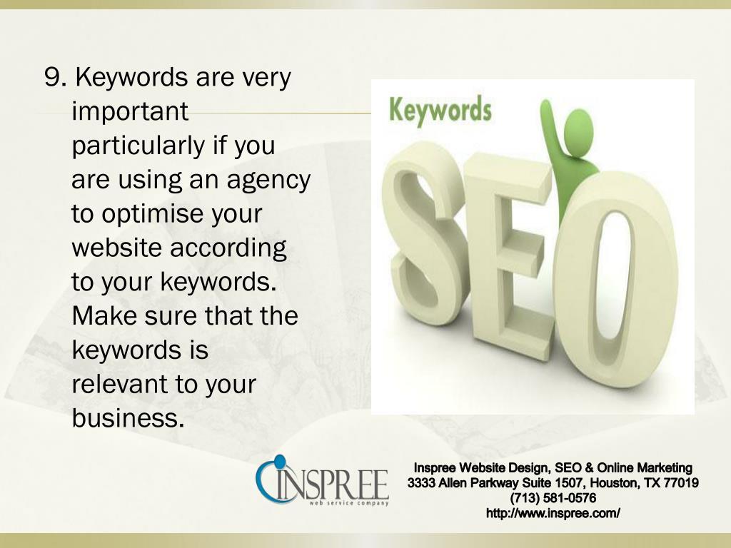 9. Keywords