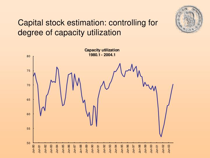 Capital stock estimation: controlling for