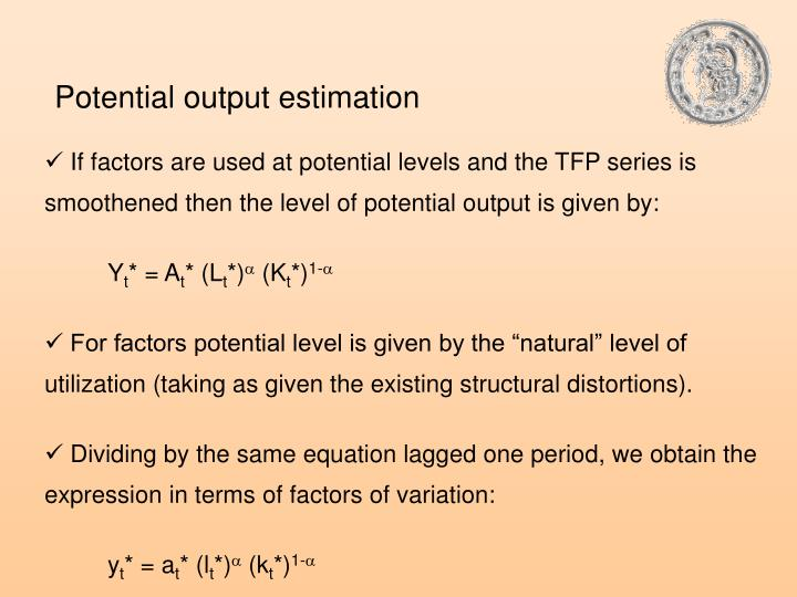 Potential output estimation