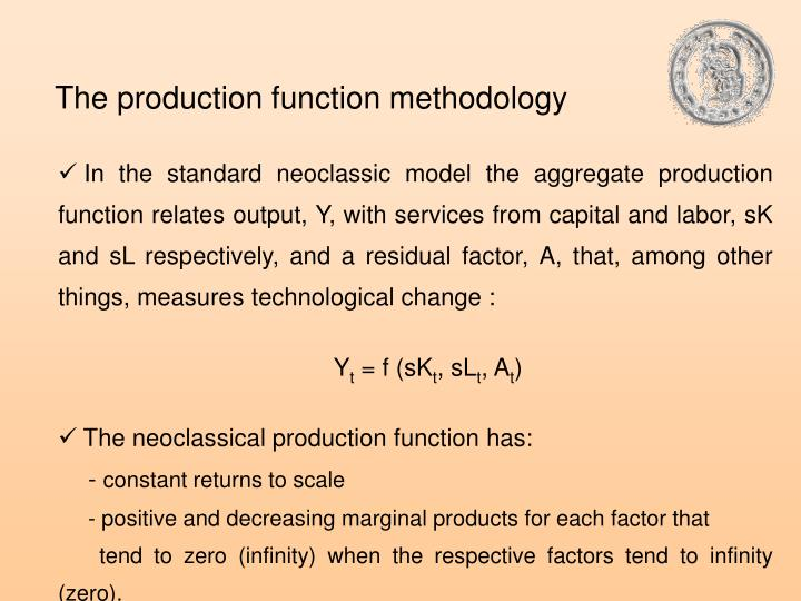 The production function methodology