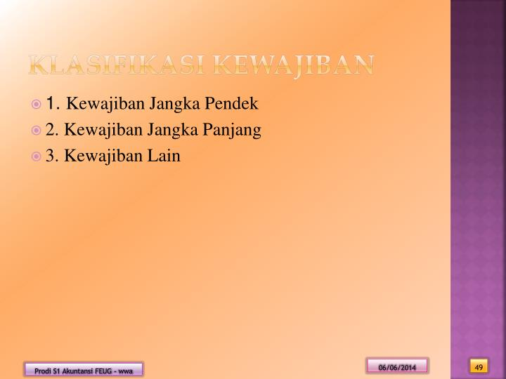 Klasifikasi Kewajiban