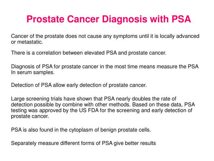 Prostate Cancer Diagnosis with PSA