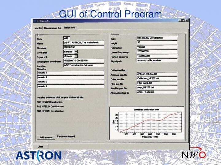 GUI of Control Program