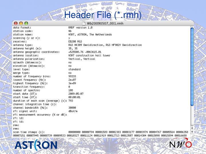 Header File (*.rmh)