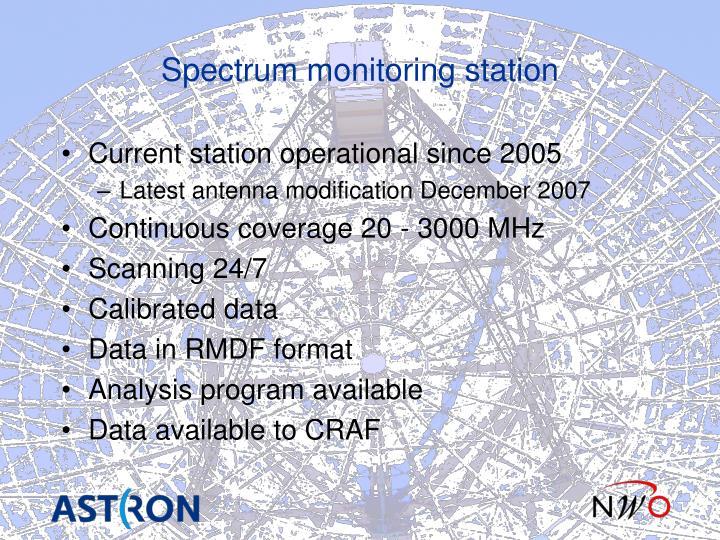 Spectrum monitoring station