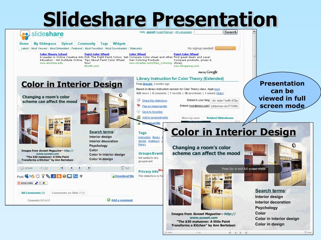 color in interior design slideshare