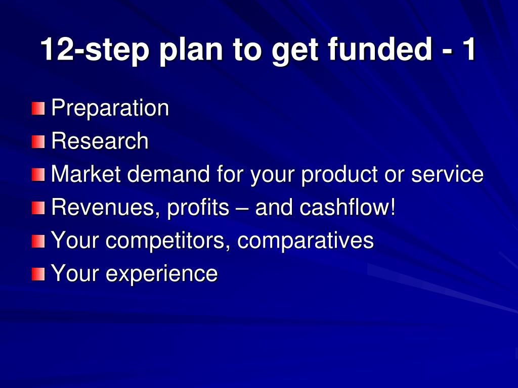 12-step plan to get funded - 1