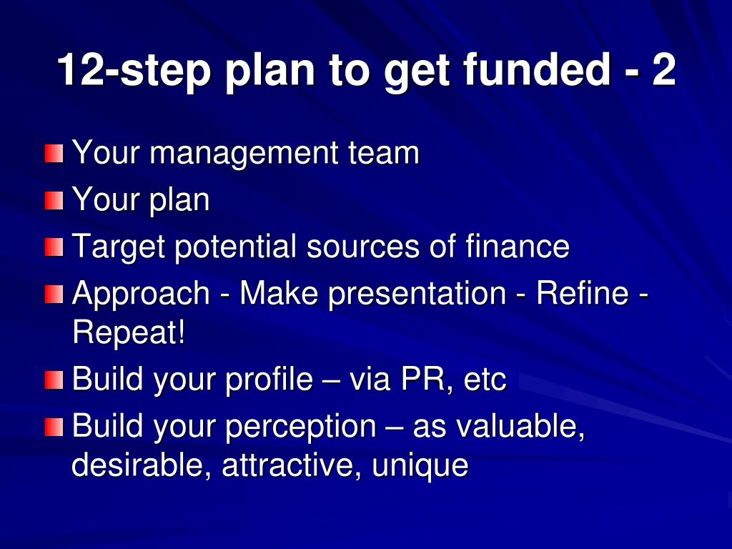 12-step plan to get funded - 2