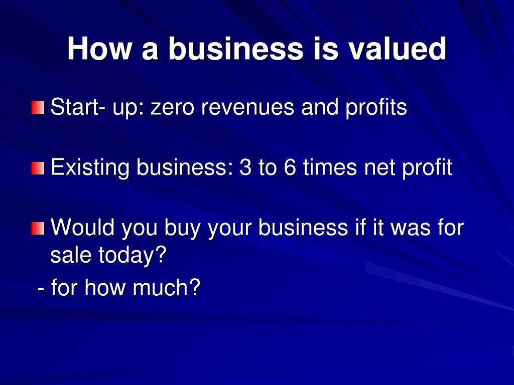 How a business is valued