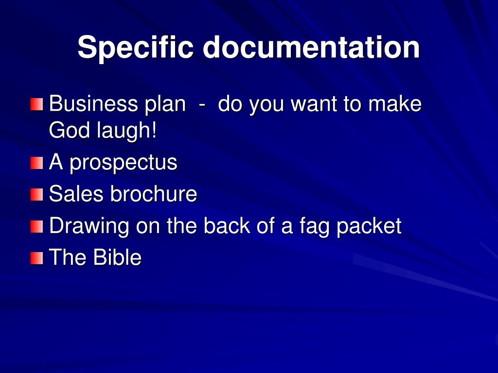 Specific documentation