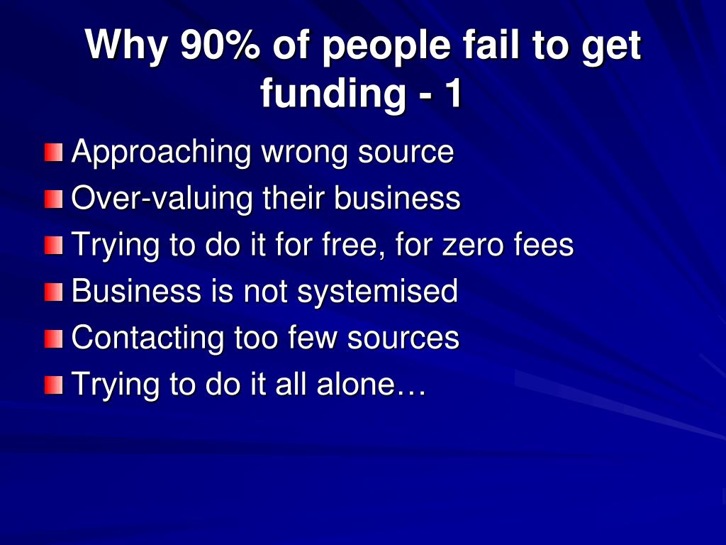 Why 90% of people fail to get funding - 1