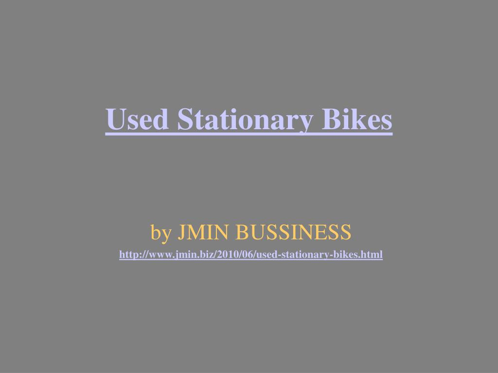 used stationary bikes l.