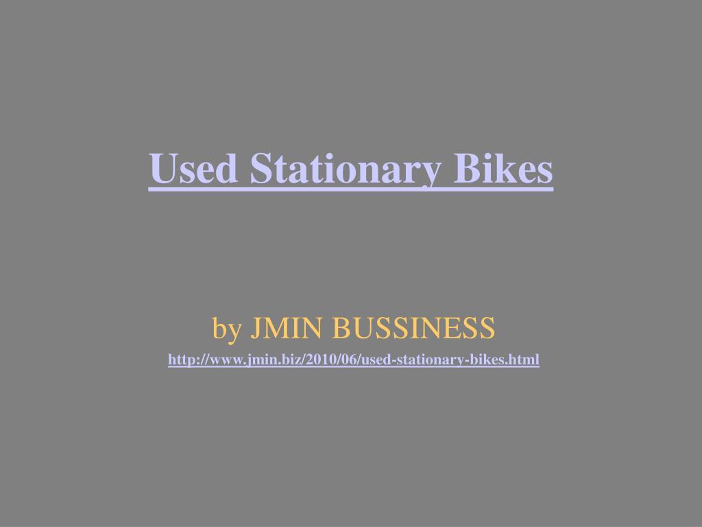 used stationary bikes l.